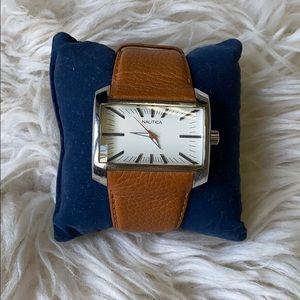 Nautica tan leather watch